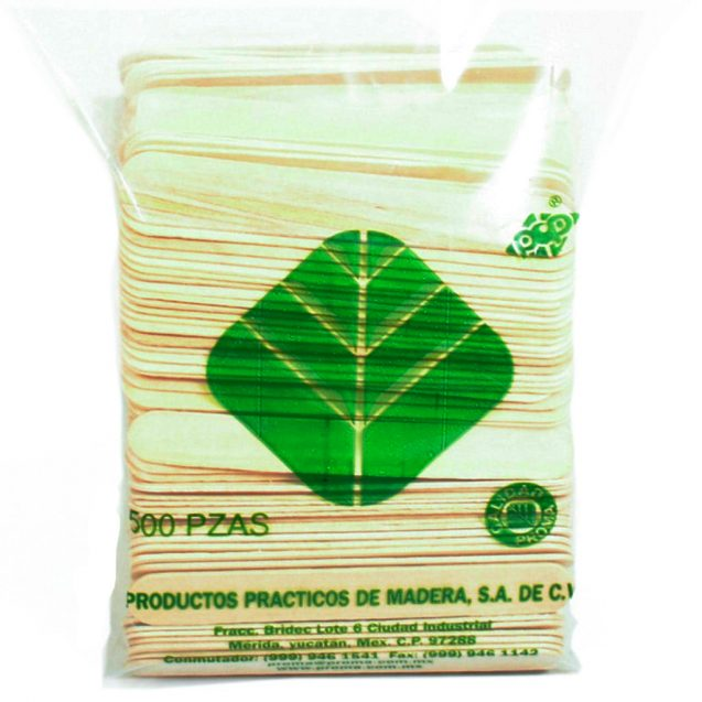 ABATELENGUAS DE MADERA POP C/500