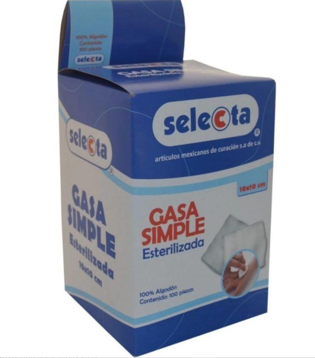 GASA EN SOBRE ESTERIL 10X10 C/100