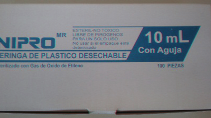 JERINGA DESECHABLE DE 10 ML 22X32 C/100