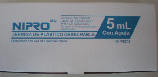 JERINGA DESECHABLE 5ML 22X32 C/100